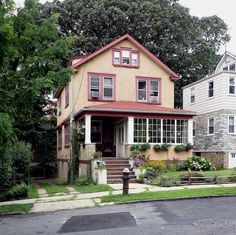 A house in North Riverdale, the Bronx. Bronx House, Cabin Interiors, Victorian Houses, Architectural Elements, Cottages, New York, Homes, Mansions, Architecture