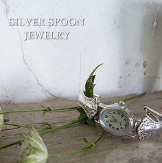 SILVER SPOON JEWELRY アンティークシルバースプーンウォッチ http://item.rakuten.co.jp/bon-eto/a9-silver-merlot/