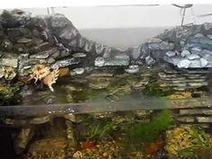 Задний фон (грот) с водопадом из пенопласта своими руками