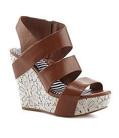 126031f2d5db GB DayDatez Banded Wedge Sandals  Dillards Dillards
