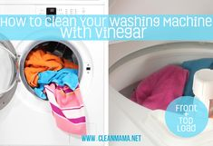 How to Clean Your Washing Machine with Vinegar via Clean Mama on A Bowl Full of Lemons