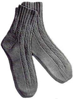 Novelty-Rib Anklets | Free Knitting Patterns
