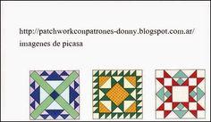 PATCHWORK= SOLO PATRONES = TODO GRATIS: TECNICAS DE PATCHWORK