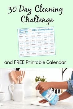 Do this 30 Day Cleaning Challenge and get control of your house again! Just do 1 task each day to create a clean new home! Plus, a free printable checklist! Office Organization Tips, School Supplies Organization, Laundry Room Organization, Classroom Organization, Organizing Toys, Organizing Your Home, Cleaning Challenge, Cleaning Hacks, Family Schedule