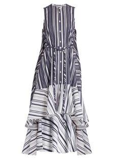 Click here to buy Palmer  harding Asymmetric-hem striped cotton shirt at  MATCHESFASHION 186835767