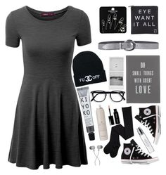"""""""black fillers / casual"""" by jasmimestefany ❤ liked on Polyvore featuring Doublju, Topshop, Eyeko, Orciani, The White Company, Converse, Bobbi Brown Cosmetics, Drybar and Byredo"""