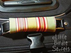 how to make a luggage handle cover | Little Birdie Secrets