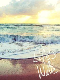 Life's a Wave Landscapes Photographic Print - 46 x 61 cm