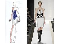 The signature Léger bandage dress picked up some patterns in the brand's fall collection. The line, which is owned by BCBG Max Azria, added some equestrian and automotive influences to the...