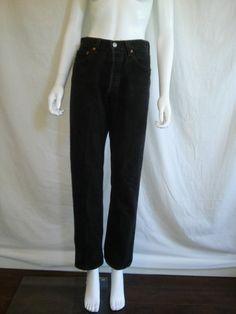 90's LEVIS faded black jeans 501 button up  by ATELIERVINTAGESHOP