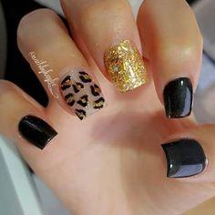 A little shorter Shellac Nails, Toe Nails, Sexy Nails, Black Nails, Nail Art Photos, Leopard Nails, Colorful Nail Designs, Fabulous Nails, Creative Nails