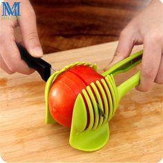 Perfect Tomato Slicer Egg Tart Holder Kitchen Tools Fruit Vegetable Cutter Potato Onion Slicer Green #Affiliate
