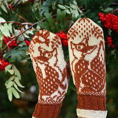 Ravelry: Rev Fox pattern by Jorid Linvik Knit Mittens, Mitten Gloves, Knitting Projects, Knitting Patterns, Fox Pattern, Wrist Warmers, Double Knitting, Needlework, Knit Crochet