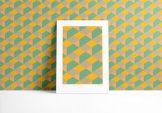 Anna Nas giclée art prints are available online in our webshop. Cover your wall with the fusion of yellow and green pineapple field. It can be an artwork print or a graphic patterned wallpaper. Get in the VAYAGE mood.