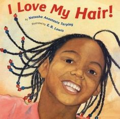 """Our artist Earl B. Lewis is also an award-winning illustrator! Here's the cover """"I Love My Hair"""" by Natasha Tarpley, illustrated by Lewis. #art #artist #painter #painting #illustration #illustrator #watercolor #portrait #portraiture #faces"""