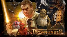 Star Wars Downunder: an epic tale of the good, the bad and the thirsty.Written by Bryan Meakin and Michael Cox, Star Wars Downunder, is half an hour of action, special effects and lovable Aussie larrikins.