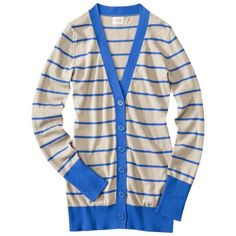 Mossimo Supply Co. Juniors Skinny Striped Cardigan ... Love this blue color