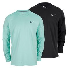 TheNikeMen's Practice Long Sleeve French Terry Tennis Crew combines comfort with performance in a stylish piece that's sure to become a fast favorite. Lightweight terry construction offers excellent breathability enhanced my a mesh inset on the backside for superior ventilation. Raglan sleeves are constructed to contour your form so they don't get in the way of play #nike #tennis #tenniscrew #endlesstennis