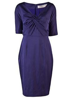 LELA ROSE Knot Front Dress