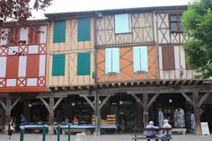 France - Mirepoix, Half timbered houses