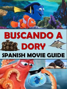 This 116 page EDITABLE Finding Dory Spanish Movie Packet and environment unit has everything you need for all levels of Spanish classes - Beginning, Intermediate, Advanced and AP Spanish!  Buscando a Dory is a great movie to teach the themes of family - la familia, animals - los animales, the environment - el medio ambiente - and overcoming obstacles - persistencia.