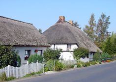 Ummanz -Germany's smallest Baltic Sea Island- the pictures showes Reethouses