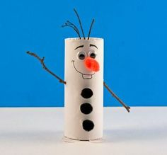 Toilet Paper Roll Olaf the Snowman