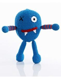 Scary Monster Fair Trade Rattle