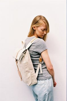 SALE ENDS TODAY: Top Roll Rucksack Natural