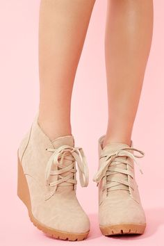 Desert boot wedges