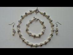 Beginners jewelry  tutorial. How to make an elegant jewelry set: necklace, earrings, bracelet - YouTube