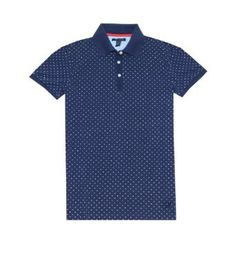 c8505780536a0 Tommy Hilfiger Women Fashion Classic Fit Dots Polo T-shirt (XL