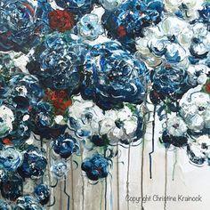 Para siempre en mi corazón 36 x 36 Original grande azul blanco Floral pintura abstracta. Contemporáneo, con textura de flores de color azul, amapolas, Peonías, rosas decoración para el hogar de cepillo y espátula. IMPRESIONANTE, la costa, bellas artes, con impresionantes detalles en tonos azul marino, zafiro, azul claro, turquesa, rojo, blanco, gris, Topo. Galería de arte sobre lienzo, arte de la pared, decoración del hogar. Pintura acrílica mixta en 36x36x1.5 galería envuelto lona. Pintados…
