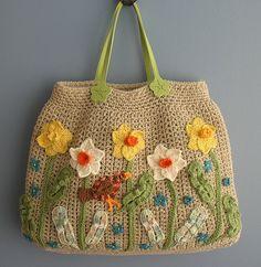 Robin Among the Daffodils Big Spring Bag | Spring Purse Fini… | Flickr