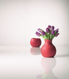 """From Danish brand Menu, this rubber vase is fun and unusual. The material gives the impression of fragile ceramic up close, while the unique material provides cutting-edge design for those seeking something completely different and modern. An extremely practical vase to have where there are small children around. Available in red, burnt orange, lime and black. My faves from StyleVisa for the Grey Likes Nesting Giveaway!"""""""