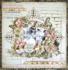 Gorgeous #scrapbook #layout  #LO