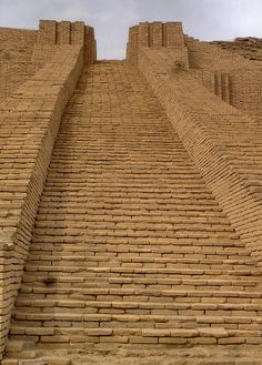 Ziggurat of Ur, in ancient Iraq - main staircase, circa 21st century BC
