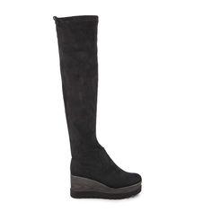 278b5d34400 Μπότες μαύρες σουέτ flatforms με ρυθμιζόμενο κορδόνι Από €49,99 ΤΩΡΑ €29,99!