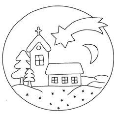vystřihovánky k vytisknutí - Yahoo Image Search Results Cheap Christmas, Christmas Crafts For Kids, Christmas Colors, Diy Coloring Books, Coloring Pages, Christmas Ornament Coloring Page, Xmas Drawing, Nativity Clipart, Felt Ornaments