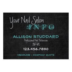 Stylish Dark Linen Business Card