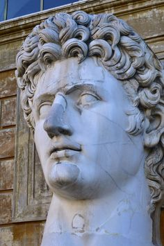 Head of Augustus  The Colossal Head of Augustus   Cortile della Pigna Apostolic Palace - Vatican Museum Rome, Italy