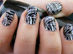 zebra nails :) !!!