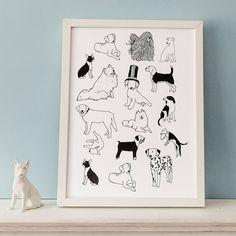 dog print by hanna melin   notonthehighstreet.com