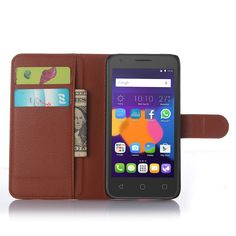 Free Shipping for Alcatel case High Quality PU Leather wallet flip Case for Alcatel One Touch Pixi 3 5 inchs Phone Cover Case