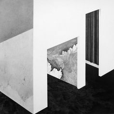 Vicki Ling  Sojourn, 2013  graphite on paper - mounted on wood box, graphite