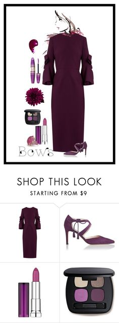 """Bows"" by patricia-dimmick ❤ liked on Polyvore featuring Roksanda, L.K.Bennett, Maybelline, Bare Escentuals, Max Factor and bows"