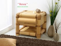 BENOA Bambus Nachtkonsole - Nachttisch | ABACA COLLECTION