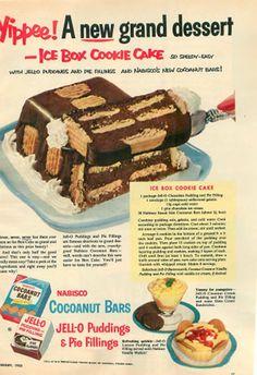 Ice Box Cookie Cake