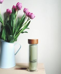 What a Beauty! Drink your favourite tea, coffee, juice and smoothie with Fressko Beverage Drink, Fruit Water, Beverages, Drinks, Juice Smoothie, Flask, Organic, Tea, Lifestyle