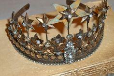 Embellished rhinestone crown French Santos by AnitaSperoDesign, $72.00